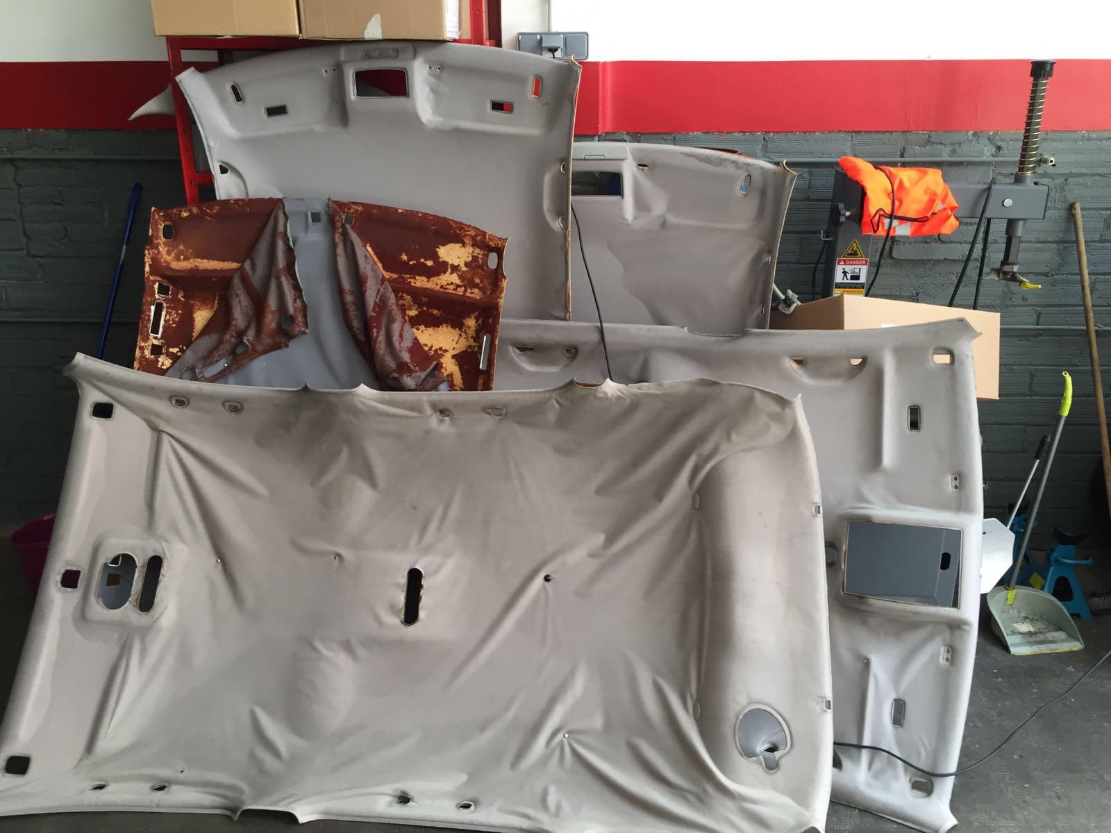 Arreglar techo ca do del coche novedades pro service - Tela para tapizar techo coche ...